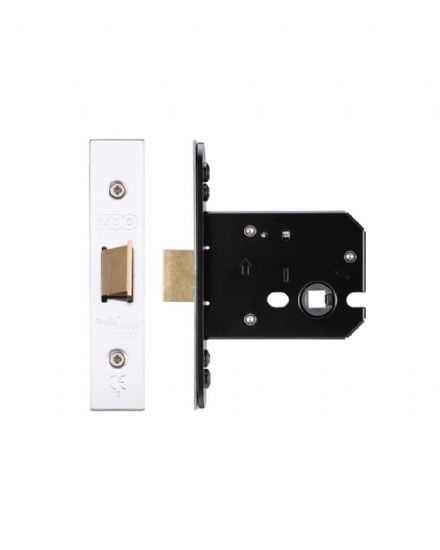 Zoo Hardware ZUKF76SS Flat Mortice Latch 76mm Satin Stainless Steel